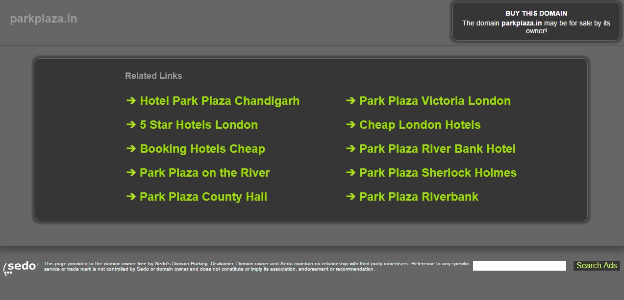 Hotel Chain files for Domain Dispute against ParkPlaza.in