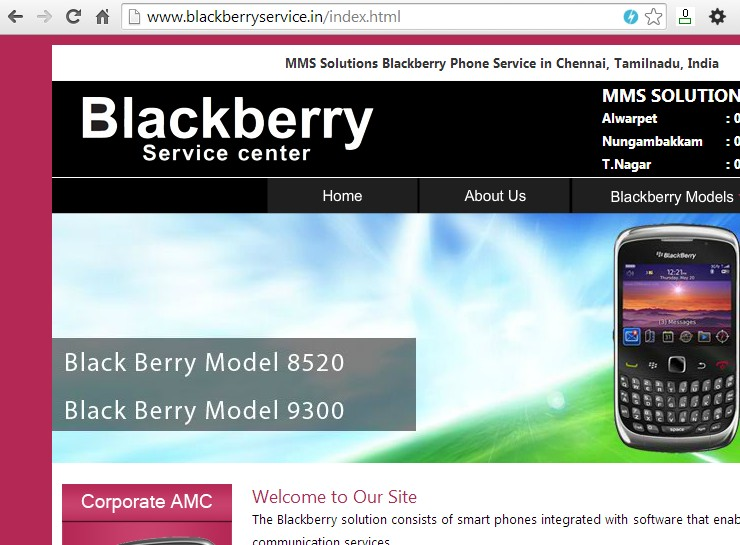 Blackberry files for INDRP over Blackberryservice.in