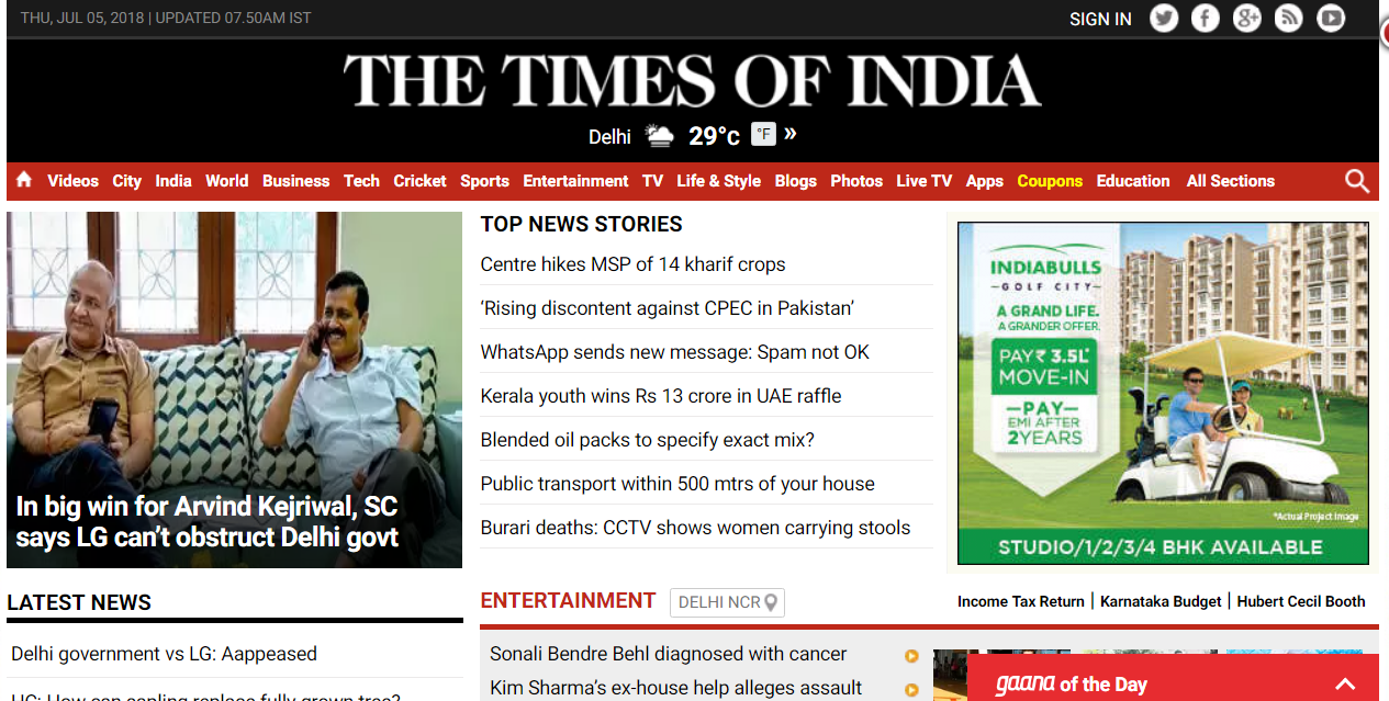 Times of India group wins generic domain – Etimes.in