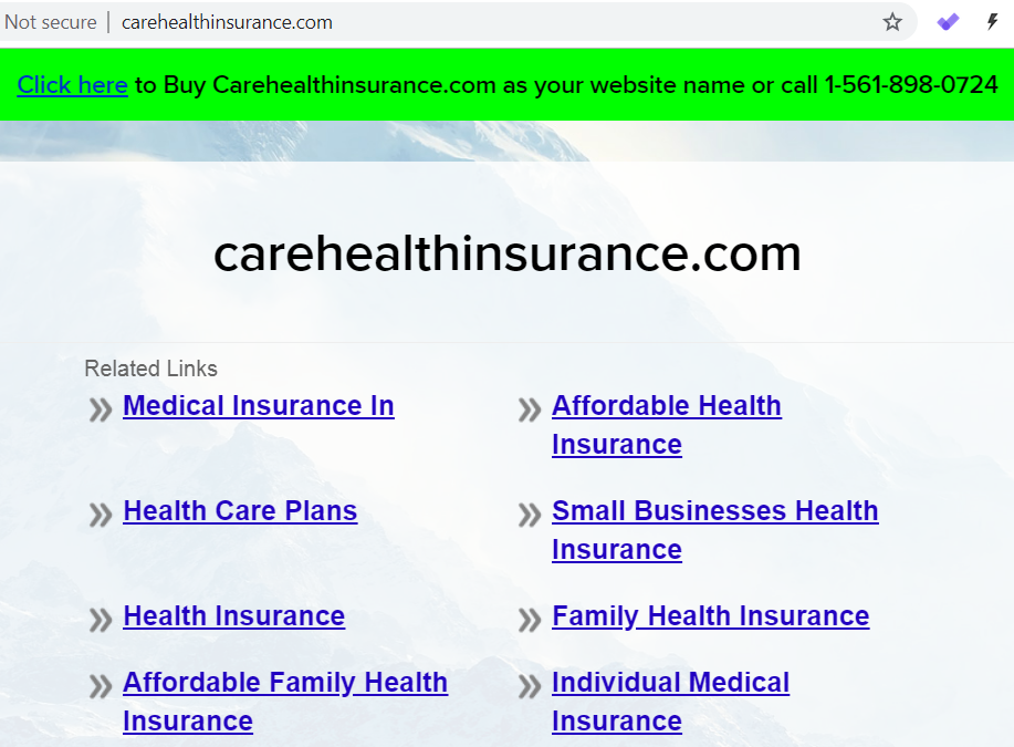 UDRP loss for another Indian Company over Carehealthinsurance.com